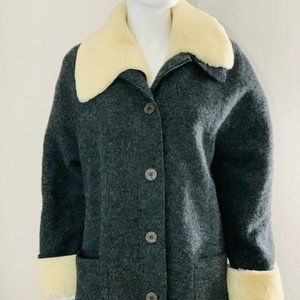 Women's Grey Hilary Radley Wool Coat